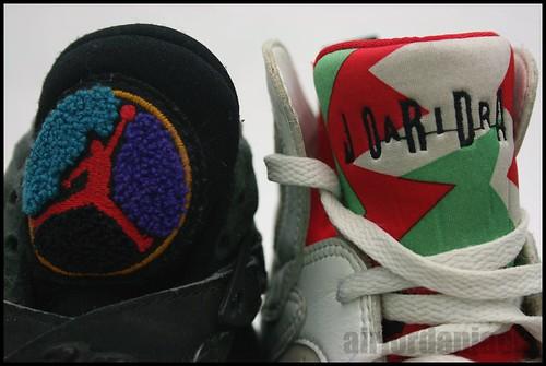 Original Jordan VII and VIII toungues