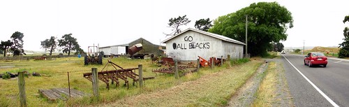 All Blacks sign near Ward, New Zealand