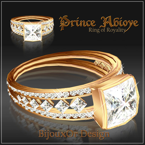Ring gold Abioye white