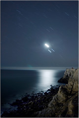 Venus Jupiter Conjunction (Extra Medium) Tags: ocean longexposure cliff moon night stars rocks venus nasa pch jupiter refection ptmugurock jupterandvenusconjunction