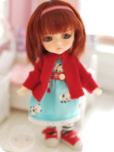 Molly Cat in Panda & Cardy Dress Set