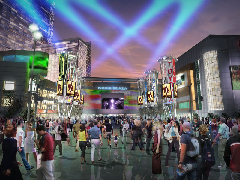 A hopeful rendering: L.A. Live excitement