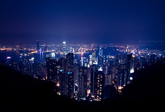 A typical shot... (Chee Seong) Tags: china city family vacation night canon buildings hongkong view victoriapeak canon1022mm 400d mywinners karmapotd summer2008
