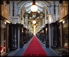 Burlington Arcade`Christmas Day (roll the dice) Tags: christmas london art classic westminster architecture burlington carpet lights war closed arcade decoration piccadilly location scandal filming w1 1819 101dalmations londonist beadles patriotgames
