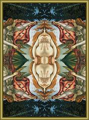 Birth of the Alien Venus (Venus Oak) Tags: painting venus transformation alien birth cloning clone oldmaster botticelli birthofvenus kalkaleidoscope 1galleries