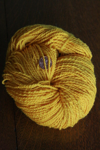 Yellow Merino Handspun