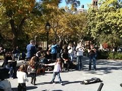 Dixieland jazz combo in Washington Square Park
