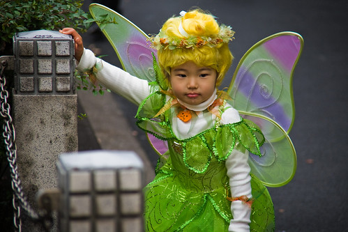 Tired (& drooling) Tinkerbell, Tokyo Halloween by Buz Carter.