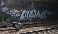 Neka 5 (Tonsils) Tags: uk london graffiti chrome graff peterborough dub bombing trackside tbf neka 1t nekah