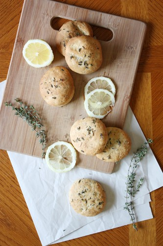 lemon-thyme biscuits.
