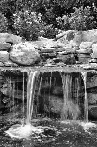 waterfallb&w
