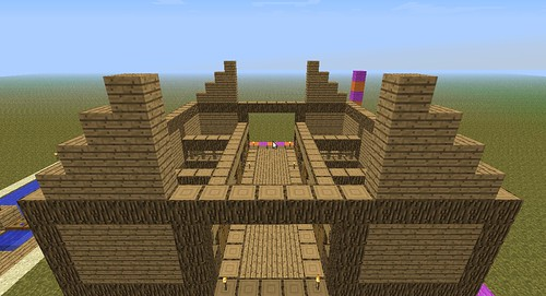 Step 7 Now Lets Roof This Thing Again I Put Wooden Planks Down For A More Decorative Look Plus It Works As Guide The