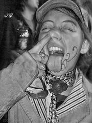 Poking the Pituitary (Culture:Subculture) Tags: friends party urban blackandwhite bw musician usa blancoynegro underground photography la insane intense concert community education punk noiretblanc neworleans fineart moshpit performance culture documentary bodylanguage indoor attitude event hardcore 9thward anarchy eccentric forsaken tribe mardigras playful pretoebranco anthropology renegade sociology participation subculture mischievious irreverent usbombs gutterpunk culturalanthropology thejohns selfdestructive lifeasart neroebianco noapologies craigmorse culturesubculture culturesubcultureyahoocom wwwculturesubculturecom affectedcommunities zwarteenwit theinimitableunderground musiciansperformersartists polandave wwwflickrcomphotosculturesubculturecollections schwarzesundwei forsakennotforgottenneworleansaftertheflood martykatz 2008craigmorse wwwflickrcompeopleculturesubculture reneeragucci keithhogan capitoloffense thecandlefactory