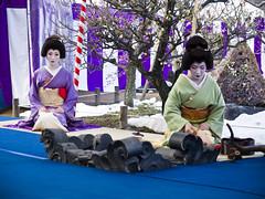 Nodate (yocca) Tags: girl japan female kyoto shrine geiko  kimono teaceremony 2008 ume  kitanotenmangu  feb2008  umefestival