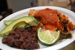 potato kale enchiladas with roasted chile sauce (hthrd) Tags: veganomicon