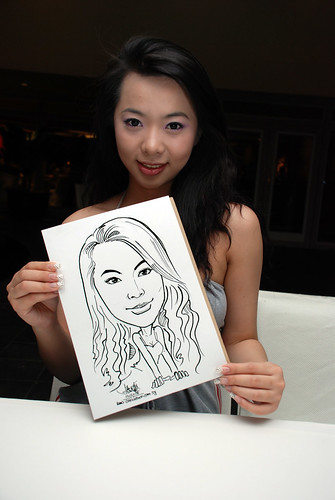 Caricature Christopher Tan 60th birtyhday party 8