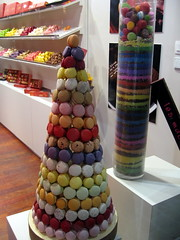 Macaroon tower from Bouillet (IceCatSeoul) Tags: food cakes colours lyon chocolate pastries macaroons vieuxlyon internationalfood bouillet foodinlyon