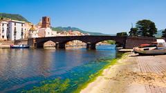 Bosa Ponte Vecchio (8#X) Tags: sardegna bridge sky italy building nature water river geotagged boat construction europe sardinia technology outdoor technik panasonic transportation brücke fluss bosa sardinien nohdr lx2 8x lumixlx2 geo:lat=4029413 geo:lon=8502817
