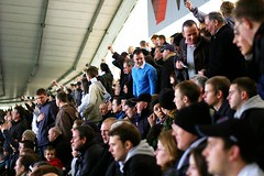 Noise at the back (JonHall) Tags: football fulham derby premiership fulhamfc pridepark derbycountyfc derbycountyvsfulham20080329 fulhamfansset20072008
