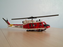 HH-1N Twin Huey (Mad physicist) Tags: rescue model lego huey helicopter usnavy iroquois nasfallon hh1n