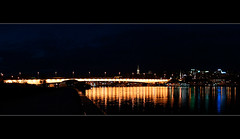 Belgrade By Night (maximarko) Tags: bridge panorama reflection night river serbia belgrade beograd sava srbija refleksija sabornacrkva brankovmost