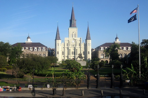 New Orleans - French Quarter: Jackson Square, Cabildo, St. Louis Cathedral and Presbytère