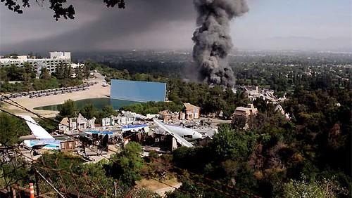 Universal Studios incendio vista posterior