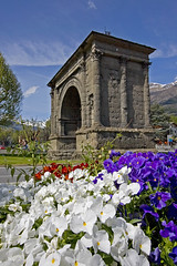 Aosta Arch (Knight_of_W.) Tags: trip travel vacation italy holiday alps castle castles architecture landscape geotagged italia foto photos middle monuments alpi castello viaggi paesaggi ages monumenti middleages architettura paesaggio aosta castelli valdaosta lanscapes canonefs1022mmf3545usm canon40d imagesofharmony