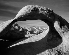 Beyond the Arch (Lightchaser) Tags: california landscapes infrared shadowsandlight artisticexpression mywinners ah04104 konica750ir alabamahillsblm mobiusarch superbmasterpiece ithinkthisisart betterthangood thegalleryoffinephotography mediumformatbwfilm
