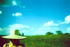 (Juan Martin Caivano) Tags: trees summer sky sun verde film argentina girl hat female analog 35mm landscape xpro crossprocessed mujer chica pentax k1000 slide paisaje cielo crossprocessing pentaxk1000 campo sombrero panama intimate horizonte diapositiva femenino peliculaanalogico