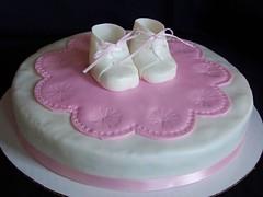Baby Shower (mysimplysweet.com) Tags: babybooties babyshowercake fondantcake simplysweet babygirlcake