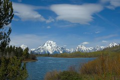 Road Trip Day 4 - Oxbow Bend, Grand Tetons NP (frank thompson photos) Tags: snow mountains nationalpark day d70 clear wyoming grandtetons oxbowbend