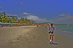Exploring (jmven) Tags: blue sea sky beach canon francis rebel venezuela playa el margarita yaque mosquera xti