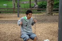 中央公園-在我淫威下,小乖也座了上去