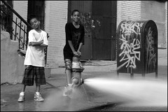 Cool Kids / Hot Harlem Hydrant (Tony Fischer Photography) Tags: city nyc newyorkcity urban ny newyork water kids hydrant harlem manhattan sprinkler africanamerican fireplug top20waterpix