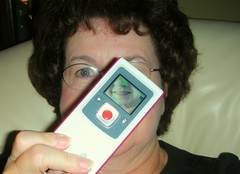 Year 2~Day 203 +174/366: Love My Flip Video Camera (Old Shoe Woman) Tags: camera selfportrait me video sunday ofme videocamera athome 365days flipvideo