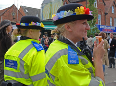 PCSOs enjoy the day (Margaret Stranks) Tags: 2008 cowleyroadcarnival pcso