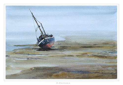 boat on the mud