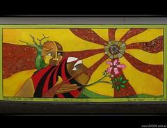 "Mural ""Luz del Saber"" (DrGEN) Tags: santa light sun santafe flower tree luz sol argentina arbol mural flor silvia saber rosario roque knowledge claudia rays fe indios chaco palo ceres pea borracho toba macario saenz aborigenes lizi wichi paloborracho pilaga matviuk drgen peachofashot luzdelsaber"