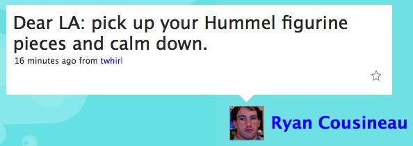 Twitter / Ryan Cousineau: Dear LA: pick up your Humme...