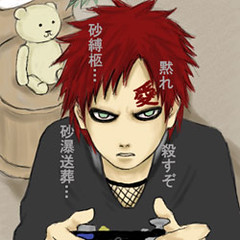 Gaara is a Gamer (o.O~.R!z.~O.o) Tags: bear game psp teddy gamer playstation gaara