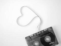 The love song (JenniPenni) Tags: bw love composition heart emotion philips oldschool tape simplicity 365 simple songs mixedtape visiongroup
