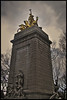 USS Maine Monument (Mike G. K.) Tags: sky horses newyork monument statue clouds dark golden centralpark manhattan maine soe uss hdr photomatix 1exp singlejpghdr