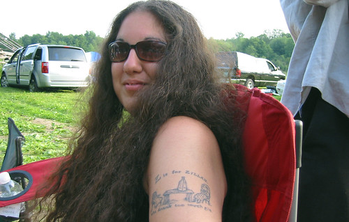 Christie and her tattoo