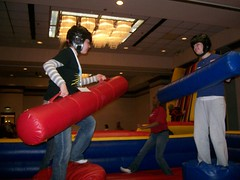 Convention 05 (tyler_morin) Tags: rachel danielle games convention inflatables