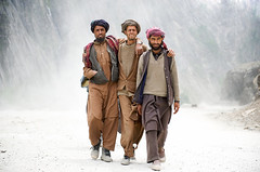 The Three Shepherds ( Poras Chaudhary) Tags: india 3 three nikon pass guys tall kashmir nikkor d3 kashmiri shepherds 2470 gujjar zojila bakarwal naturesbackdrop