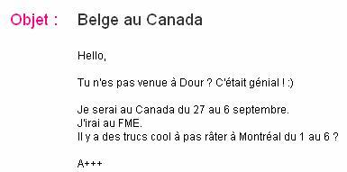 Belge au Canada