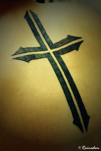jesus christ on cross tattoos. Cross Tattoo Designs Both