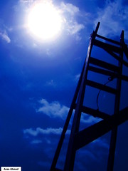 Ladder to Sun (Anas Ahmad) Tags: blue sun art colors point interesting shot north digitalart creative olympus ladder inspirational ahmad karachi ahmed anas allrightsreserved olympusfe100 golddragon northkarachi aplusphoto onephotoweeklycontest world50f anasahmad anasahmadphotography