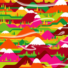 Feelgood By Numbers (detail) (bentheillustrator) Tags: world sky art illustration landscapes view ben prints illustrator rainbows